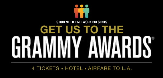 You and 3 guests could be walking the red carpet, rubbing elbows (and ONLY elbows, let's not go crazy here) with the stars at the 55th Annual Grammy Awards!  Witness performances by The Black Keys, Fun., Mumford & Sons, Rihanna, Taylor Swift, and more on February 10th.  We'll send you there: tickets, hotel, airfare.  The whole shebang (and shebangs are expensive these days, yo.).    All you have to do to enter is sign up: getustothegrammys.com.  Contest closes February 3rd.