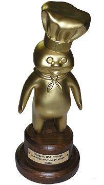 Pillsbury Doughboy Employee Trophy Statue Award