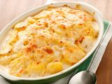 Low Fat Scalloped Potatoes:2 tablespoons unsalted butter, plus more for the dish      Kosher salt      3 pounds Yukon gold potatoes, peeled and thinly sliced      2 tablespoons all-purpose flour      1 cup low-fat milk (1%), at room temperature      1 cup whole milk, at room temperature      Freshly ground pepper      1/4 teaspoon freshly grated nutmeg      1/4 cup grated gruyere cheese: Lowfat, Food Network, Side Dishes, Potatoes Recipe, Scalloped Potatoes, Low Fat Scalloped, Healthy Side, Sidedish, Scalloped Potato Recipes
