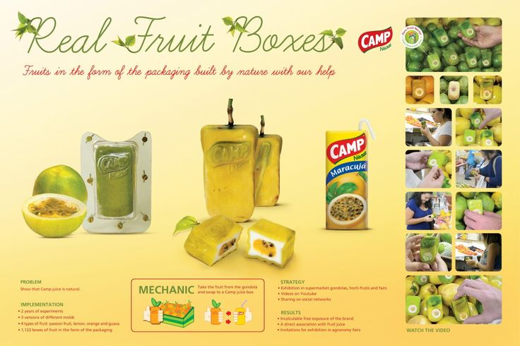 """Camp Nectar - """"Real Fruit Boxes (Board)"""" Cannes Lions International Festival of Creativity 2012"""