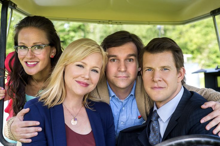 """Check out photos from the Hallmark Movies & Mysteries Series """"Signed, Sealed, Delivered,"""" starring Eric Mabius, Kristin Booth, Crystal Lowe and Geoff Gustafson."""