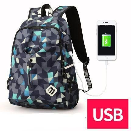 Fashion Student College Backpack With USB Charging Blue Cube  Fashion Student College Backpack With USB Charging Black  Fashion Waterproof Backpack  Laptop Guy For Him School notebook external charge Vintage Bag awesome For sale gift ideas Products Shops Store Website online shopping internet links gift fashion Auhashop.com  For Modern Student Ideas School Accessories Cool Fashion Gift ideas