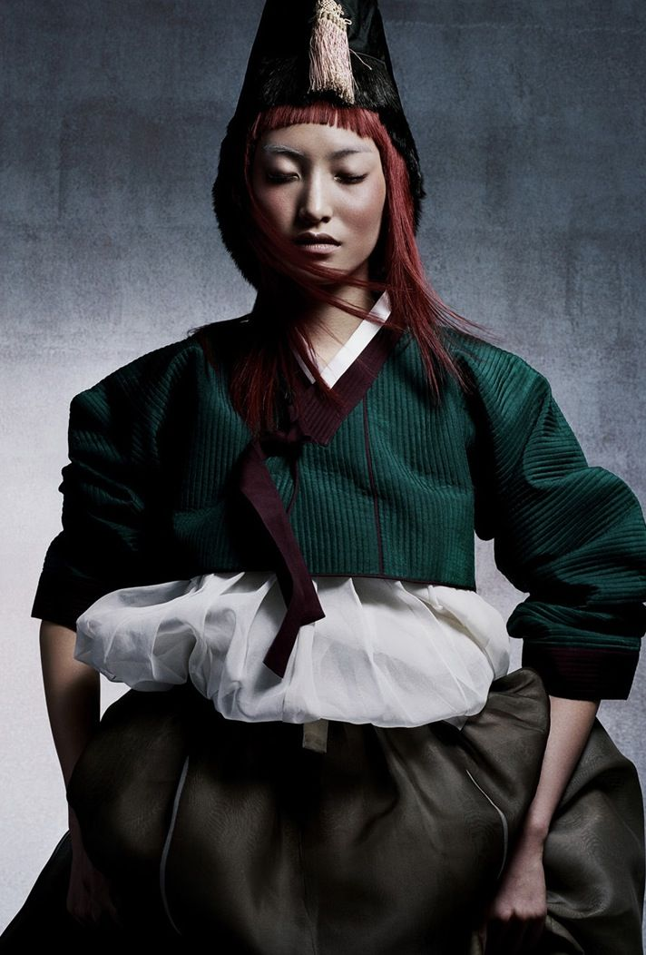 The Gifts Of Life |daul kim in a traditional korean hanbok for vogue korea, january 2006