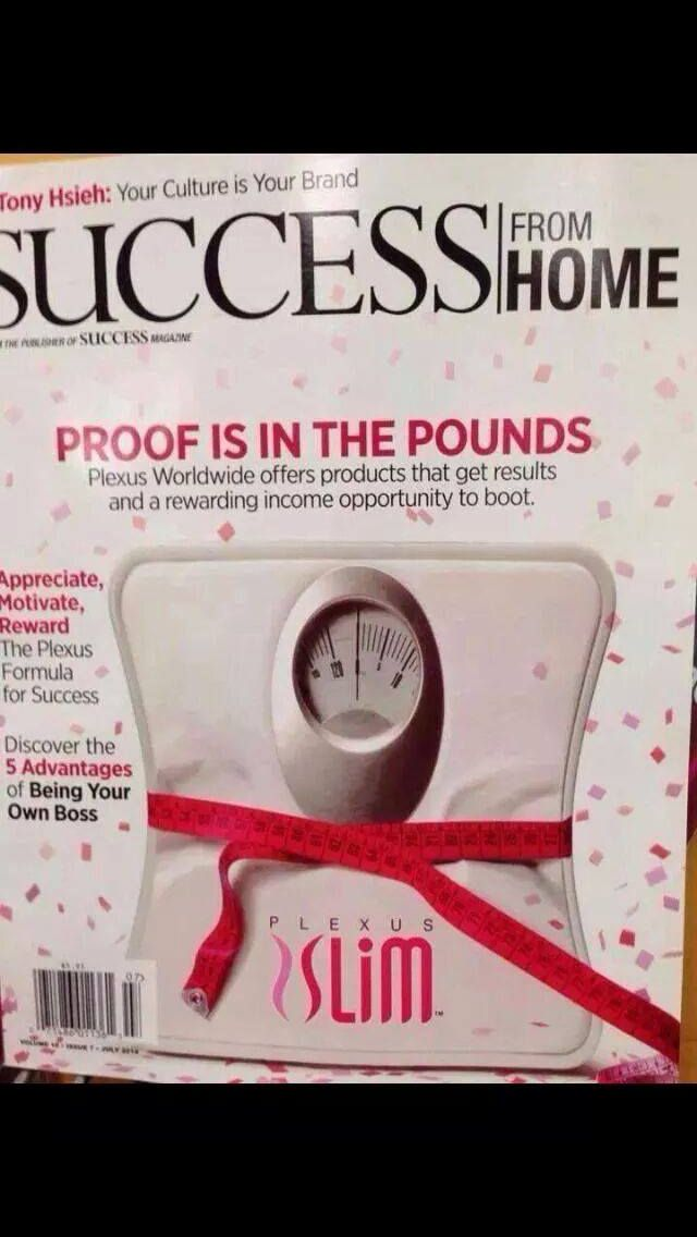 Plexus is on the cover of Success From Home magazine! Join my team and start your own journey to financial freedom! Http://crystalcampbell.myplexusopportunity.com