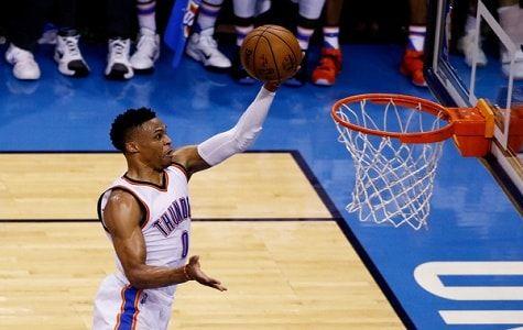 Russell Westbrook tuvo 36 puntos, 11 rebotes y otras tantas asistencias y el Thunder de Oklahoma City se impuso el martes por 118-94 a los Warriors de Golden State