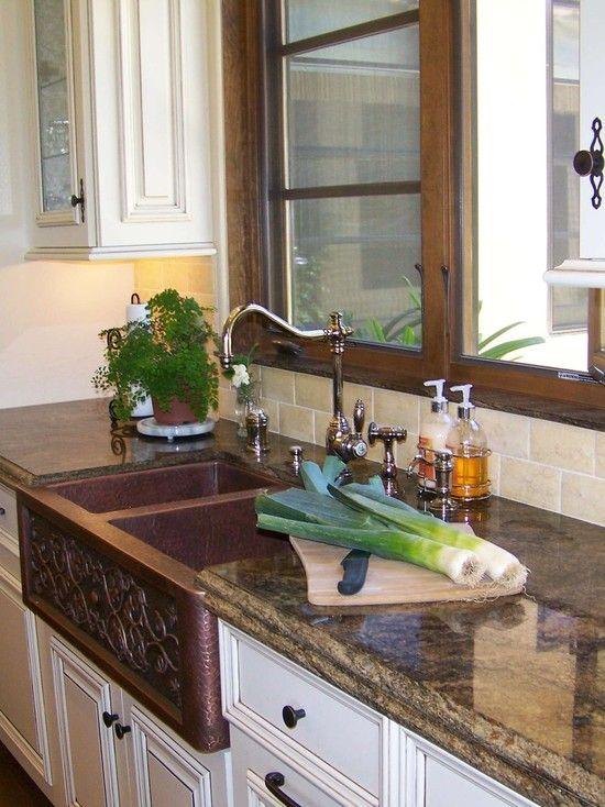19 best faucets images on pinterest kitchen faucets kitchen taps copper farmhouse sink close up traditional kitchen san diego design moe kitchen bath heather moe designer workwithnaturefo