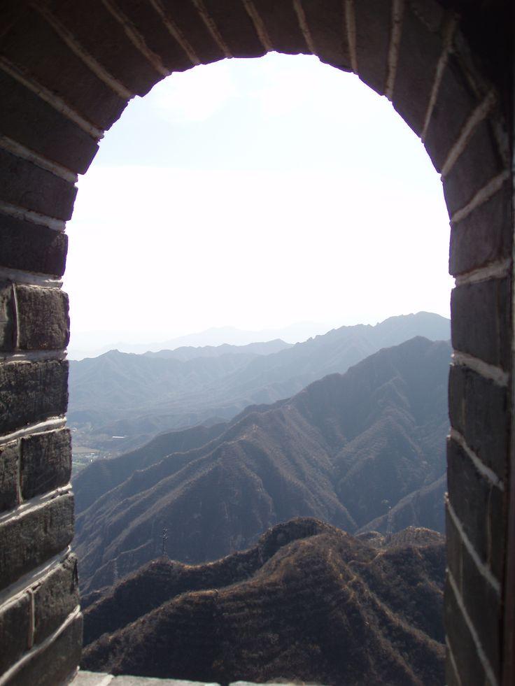 Великая Китайская стена. Вид из башни.