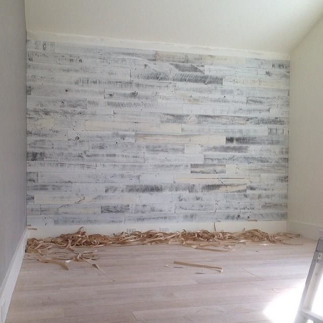 Our client ordered this #reclaimedwood pre-finished wall accent from #westelm. It comes w/ pre-applied double sided tape ready for install. Once I opened the box I had to install it!!! Took maybe an hour. Looks money!!! This is one of the girls bedroom an