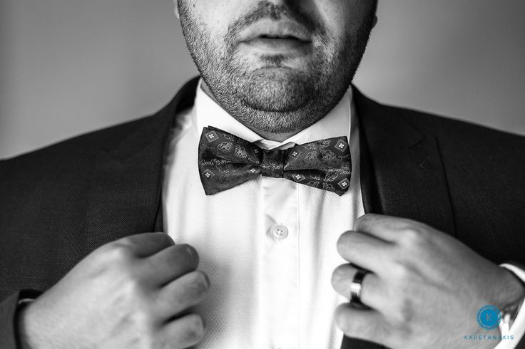 Groom, Bow Tie, Black And White, Classic, Style, In Love, Santorini Weddings