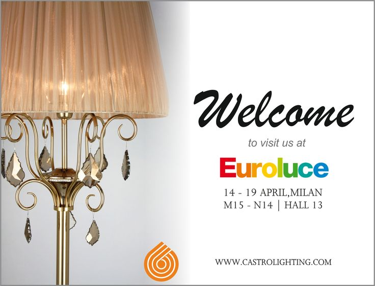 Discover the new pieces at Euroluce 14-19 April | Milan. Will you join us there?  Castro Lighting