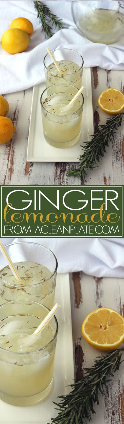 Ginger Lemonade recipe from A Clean Plate