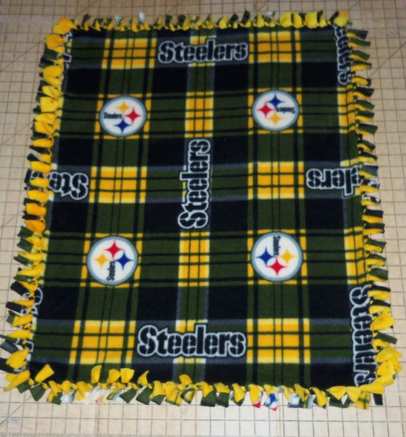 Pittsburgh Steelers Football Black Gold by Scrunchiesbysherry, $26.99