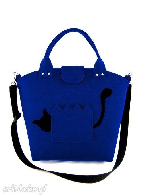 Cat behind fence - blue. $28