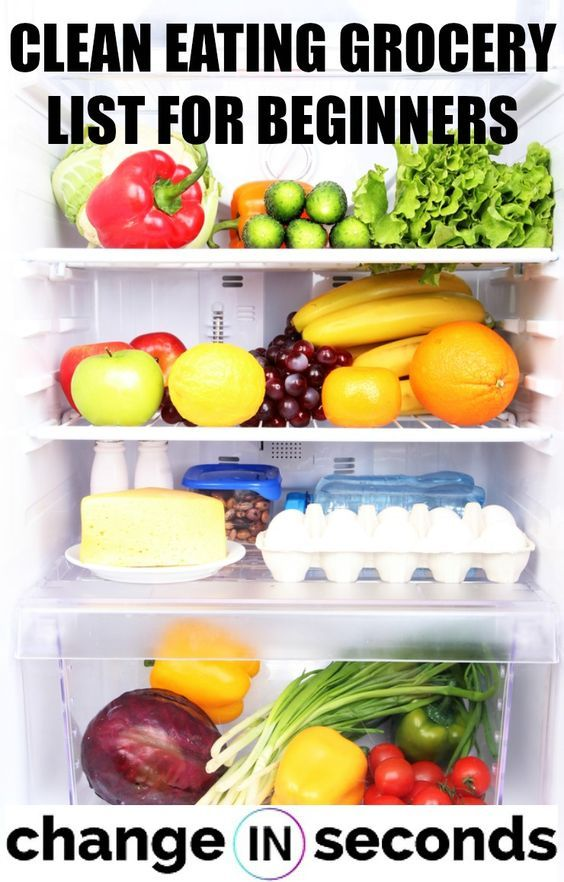 Clean Eating Grocery List For Beginners (Infographic & PDF Download)