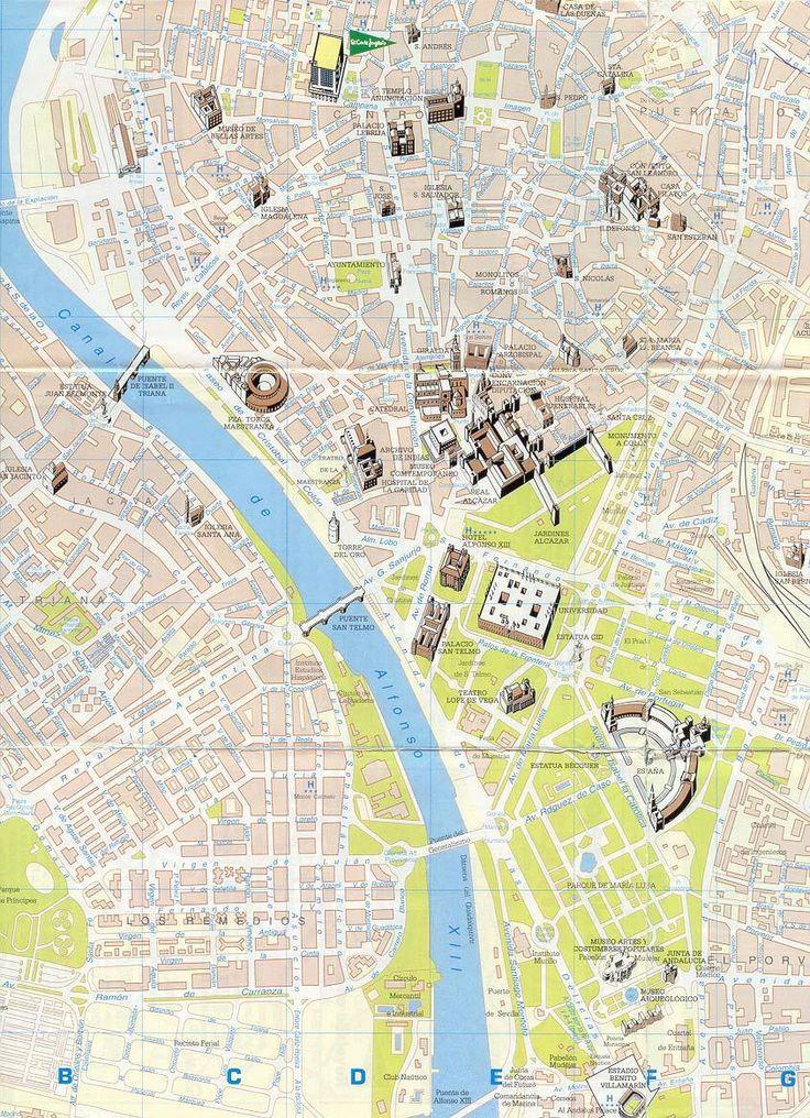 Mappa Siviglia - Cartina di Siviglia