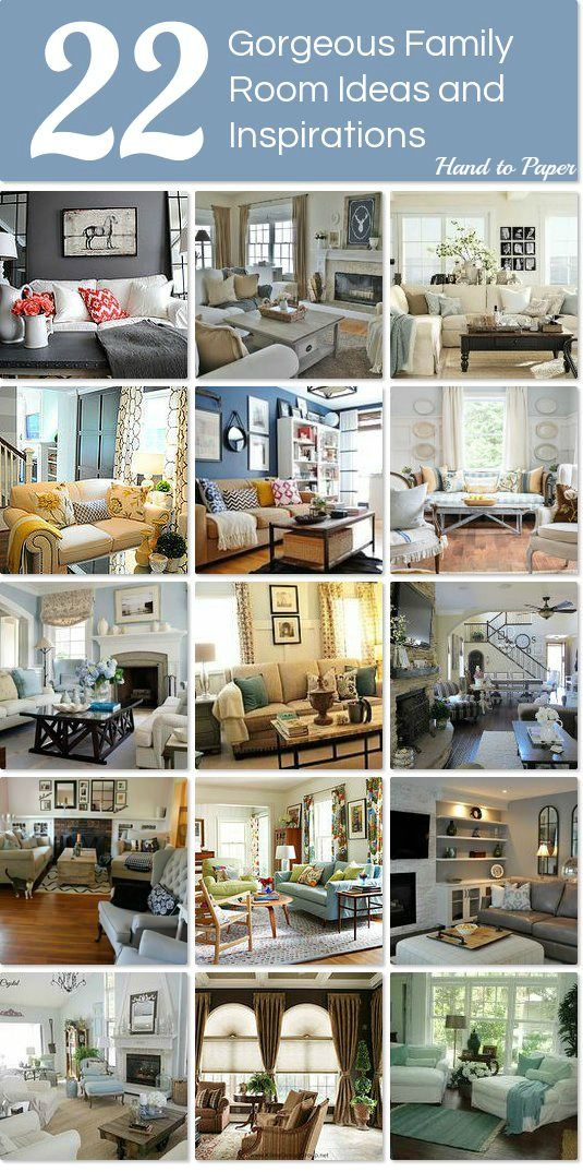 22 Gorgeous Family Room Ideas and Inspirations http://www.hometalk.com/l/86p
