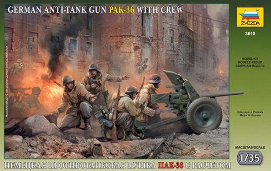 Maquette - Kit PAK-36 with Crew – Zvezda 3610
