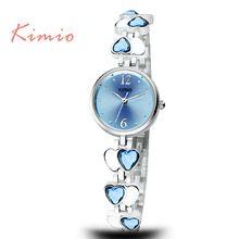 KIMIO Marca TG040 Pequeno Mostrador Senhoras Pulseira de Corações Jóias Sorte Pulseira Relógios das Mulheres Relógios de Pulso Casual Relogio(China (Mainland))