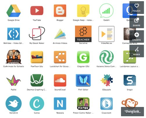 Apps for your Chromebooks in education with link for each image.  Done in Thinglink (another cool resource for the classroom).  Thanks to Holly Clark for this :)
