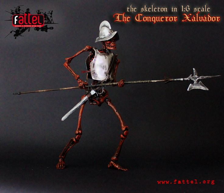 customization of the skeleton FATTEL 1:6 scale, with over 50 points of articulation