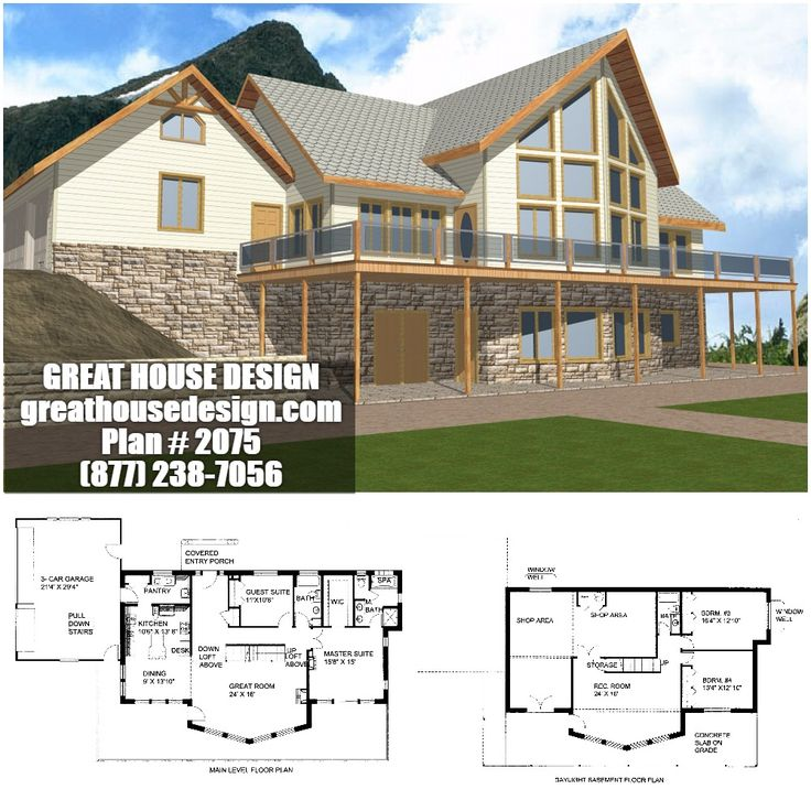 119 best Insulated Concrete Form Homes By Great House Design images – Concrete Icf Garage Plans