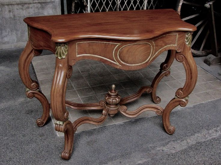 Console Table From The Paterno Villar Family Of Manila, 1900s, Narra