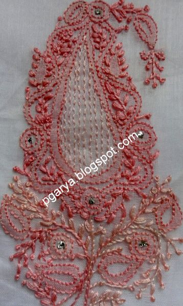 Indian Chikankari Embroidery (Lucknowi embroidery), by Preethi G., on ' Stitching Fingers'