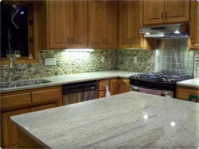 Stainless Steel Granite Kitchen Backsplash Photos Kitchen Backsplash Photos  On Metal Tile