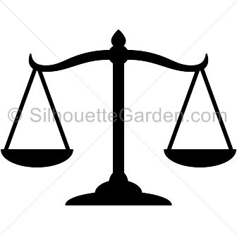 Scales of justice silhouette clip art. Download free ...