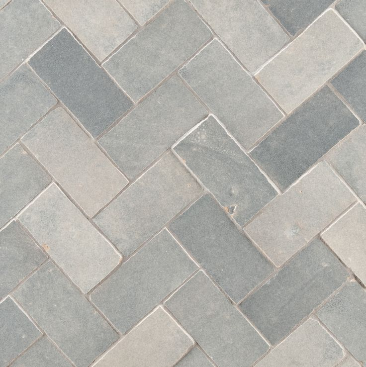 "ANN SACKS Idris 2"" x 4"" terra cotta field in grey chine"