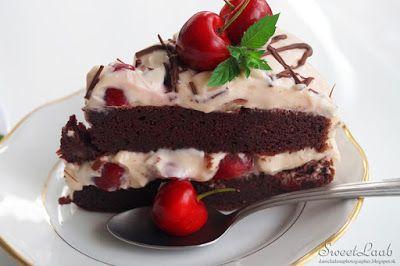 Cherry custard tart from spelt flour / Čerešňová krémová torta zo špaldovej múky / Tarte d'épeautre aux cerises