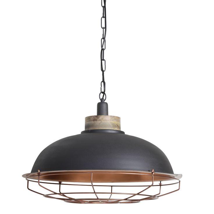 Soms is een product zo geweldig, dat het geen uitleg nodig heeft. Neem nou deze Miliana hanglamp, die bestaat uit een perfecte combinatie; grijs met een koperen binnenkant, hout en een stoer industrieel ontwerp waar je u tegen zegt! De industriele manier van vormgeven geeft deze lamp een moderne, maar ook hedendaagse uitstraling. Hierdoor past hij vrijwel in elk interieur. Het kan allemaal met hanglamp Miliana van het merk Light & Living!