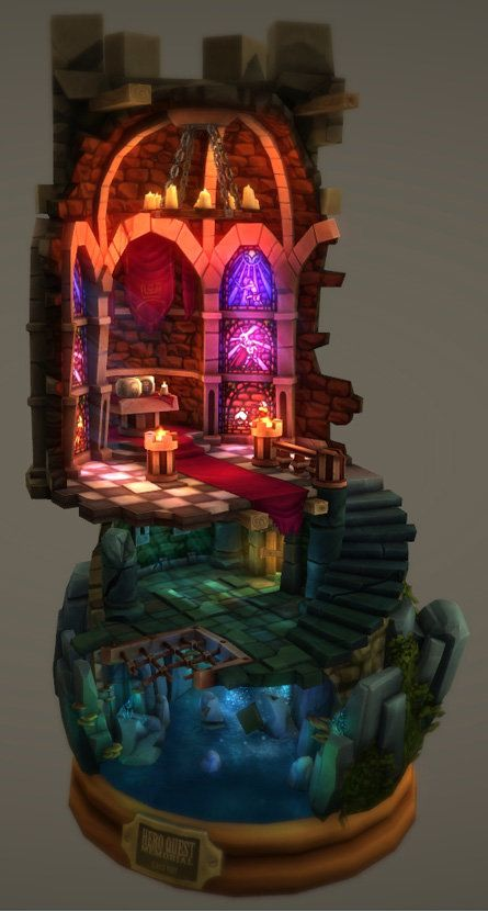 ArtStation - Hero Quest Tribute Diorama, Ulrick Wery