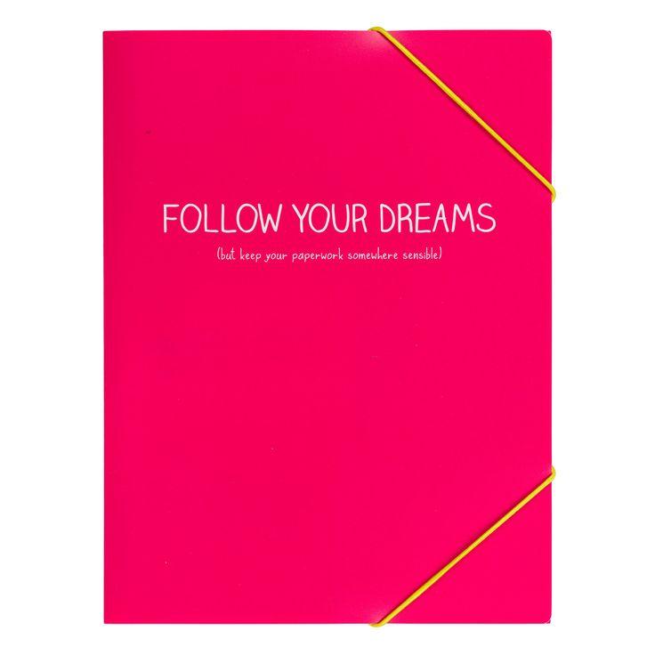 Happy Jackson A4 Follow Your Dreams Folder