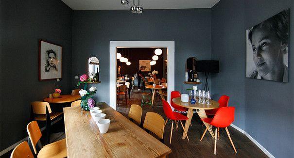 Das Interieur des Restaurants Weinsinn im Frankfurter Westend