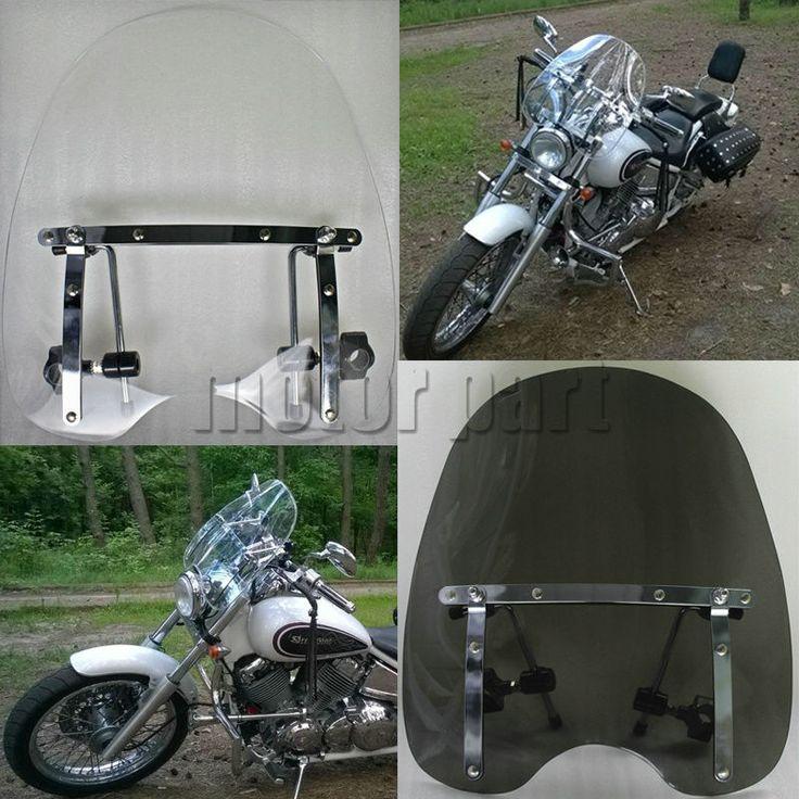 buy motorcycle windshield windscreen for 19x17 honda shadow spirit sabre ace aero 1100 vlx #motorcycle #windshields