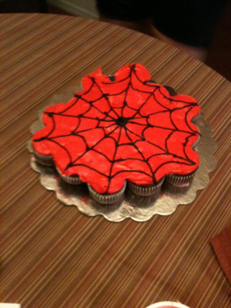 My Spiderman Cupcake Cake Outdoor Winter Play