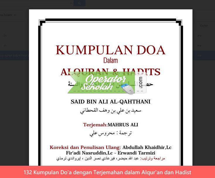132 Kumpulan Do'a dengan Terjemahan dalam Alqur'an dan Hadist
