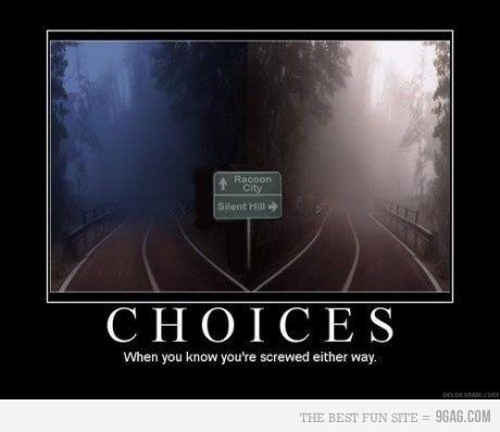 hmmm, Resident Evil vs. Silent Hill... I'd go to Resident Evil