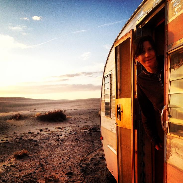 Dusty does the dunes. St. Anthony, Idaho USA