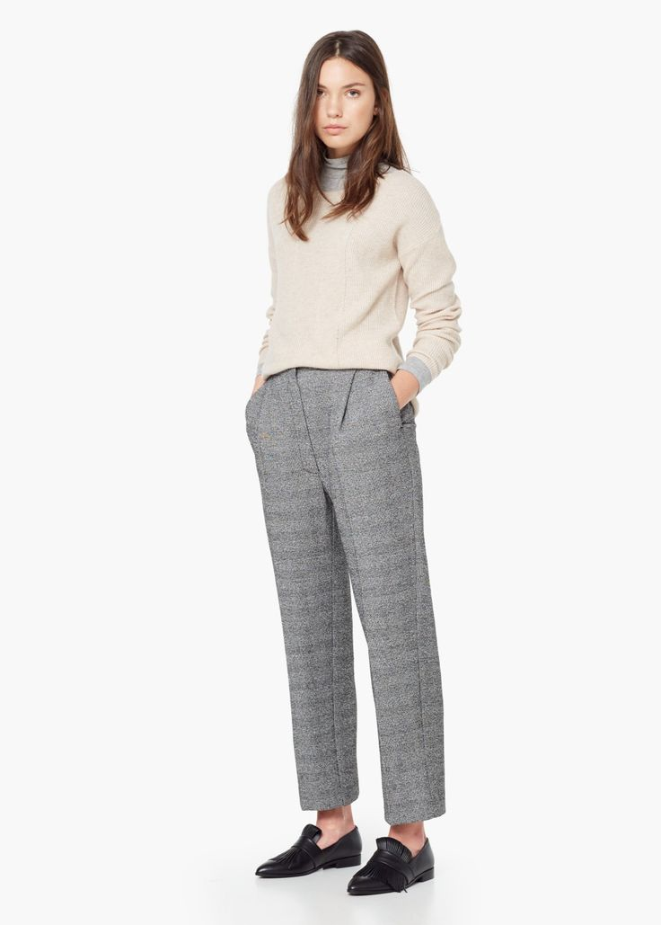 Пестрые укороченные брюки
