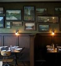 Framed pictures & paintings on the wall  woodsman's tavern, portland
