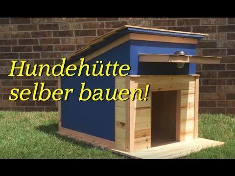 Hundehütte selber bauen / Hundehaus selbst machen - Bauanleitung / Basteln aus Holz / Bastelideen - YouTube