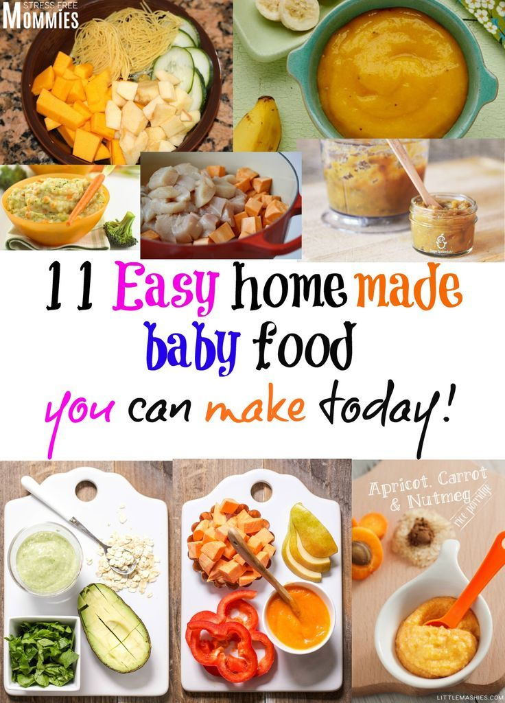 11 easy homemade baby food you can make today- Homemade baby food doesn't have to be stressful to make. Take a look at these 11 easy homemade baby food recipe that you can make today and guaranteed that your baby will love!