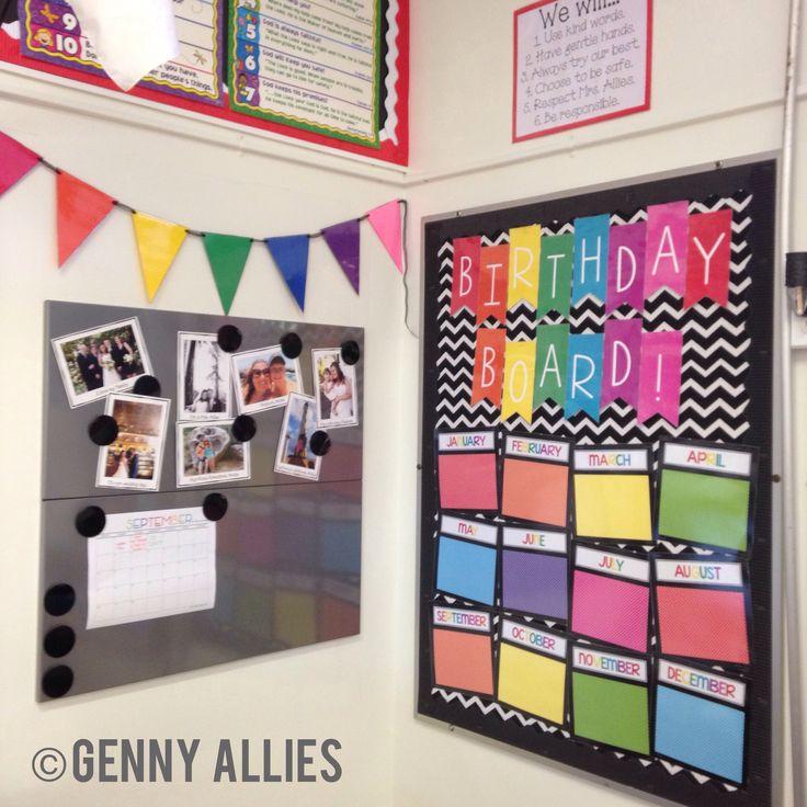 Classroom Decor: Birthday Board + Teacher Corner