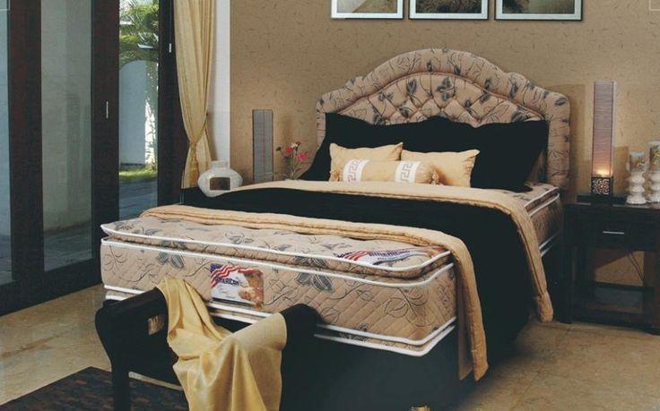 Mau memiliki tempat tidur yang elegan untuk kamar anda? Spring bed American Pillo ini pilihannya  Pesan Springbed American Pillo sekarang. Info produk bisa langsung hubungi CSO kami di 031-8075516 atas nama Ibu Anik. smile emoticon #ProdukPillo