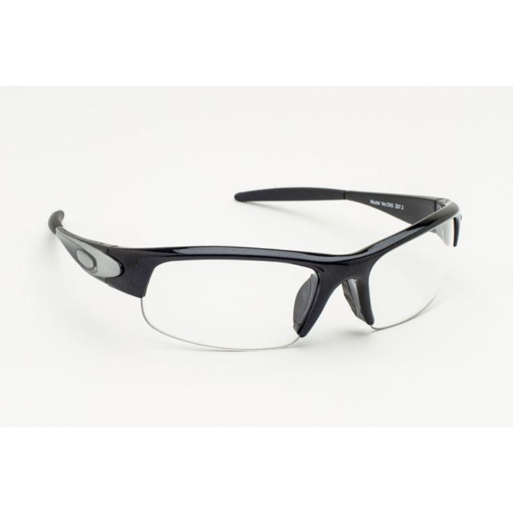 RX-D05 Prescription Safety Glasses, Black Wraparound Frame, #RX-D05-B
