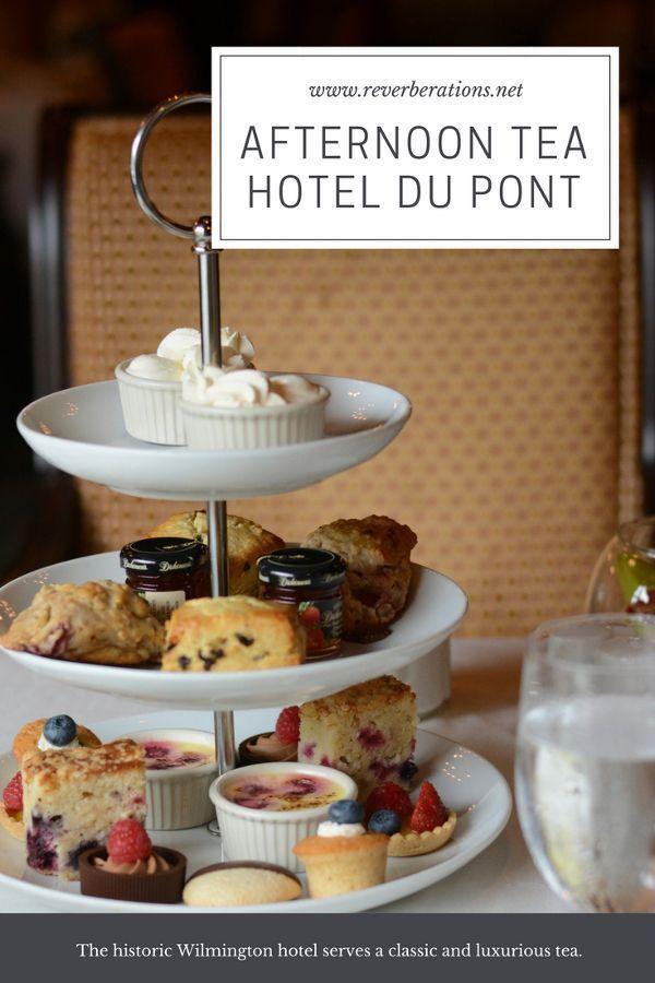Afternoon tea at HOTEL DU PONT.