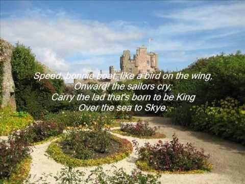 """""""Over the Sea to Skye""""/""""The Skye boat song"""", interprétée par les Corries - Scotland. Ici, la chanson originale relatant la fuite de Bonnie Prince Charlie après son échec de révolte contre les anglais à Culloden en 1746. Chanson adaptée pour Outlander/Starz. Magnifique diaporama avec les paroles originales en sous-titre."""