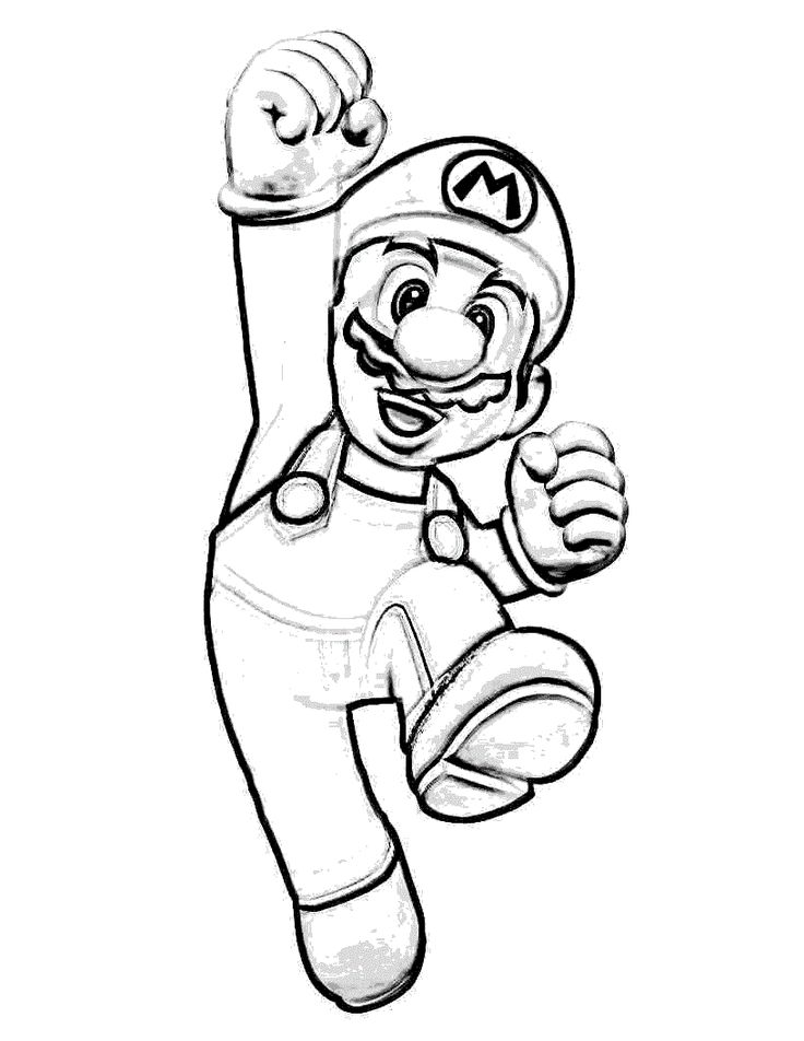 free coloring pages of mario - photo#24